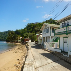 Charlotteville houses by the sea