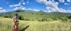 Mathews Range hiking with a Samburu guide of Kitich Forest Camp