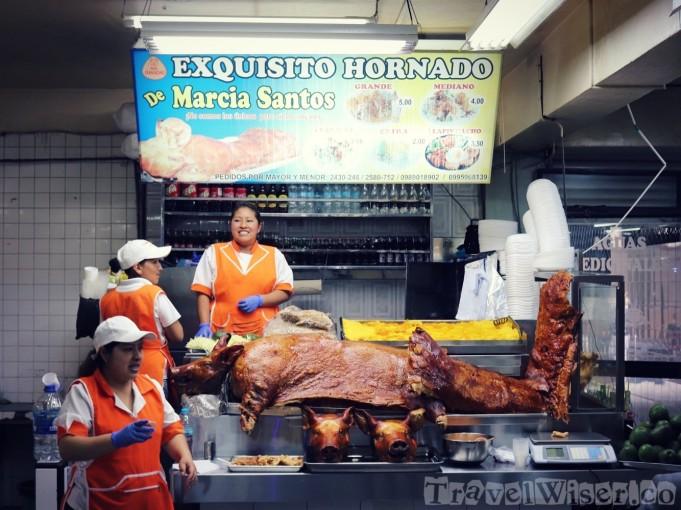 Hornado at Mercado Iñaquito