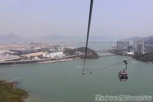 Ngong Ping 360 cable car view, Lantau Island