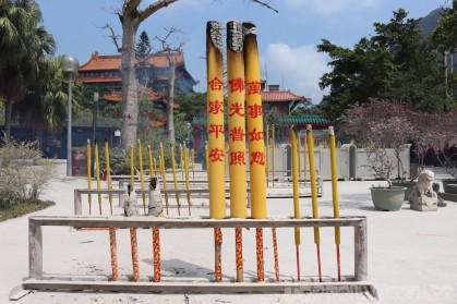 Giant incense offers at Po Lin Monastery on Lantau Island