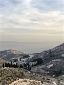View over Niha and temples, Lebanon