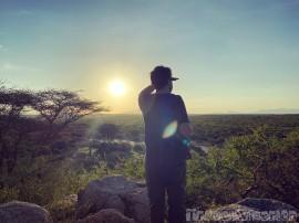 Sunset bushwalk Saruni Rhino Kenya