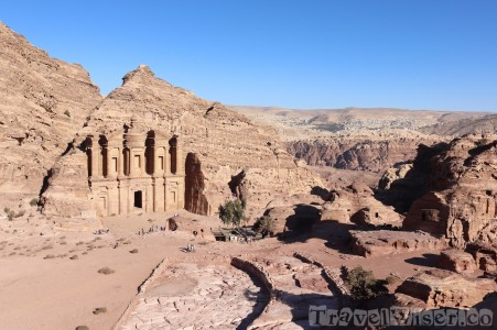 Overlooking the Monastery, Petra Jordan