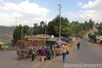 The streets of Gondar Ethiopia