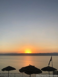 Dead Sea sunset at the Movenpick