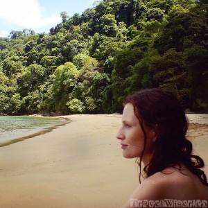 Sofie on Pirate's Bay beach Tobago
