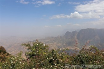 View from Limalimo Lodge over Simien Mountains National Park
