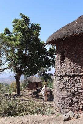 Tukuls in Lalibela Ethiopia
