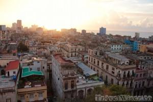 Sunset view over Havana
