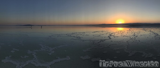 Asale salt lake at sunset, Danakil Depression