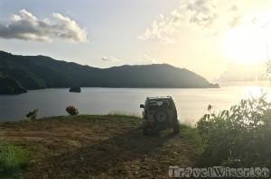 Parking near Pirate's Bay Tobago