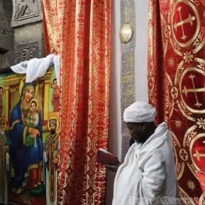 An Ethiopian priest in Lalibela