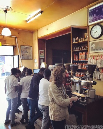 Tomoca cafe Addis Ababa Ethiopia