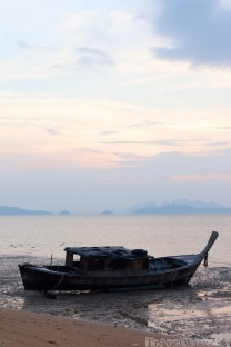 Fishing boat on a Koh Yao Noi beach