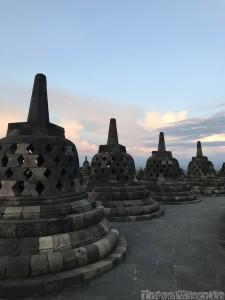 Stupas on top of Borobudur temple
