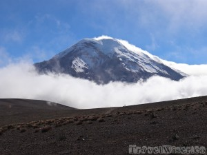 Volcan Chimborazo among the clouds