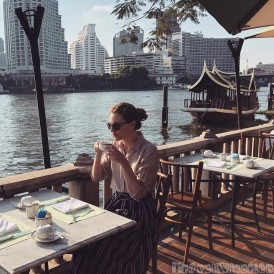 Peninsula Hotel Bangkok breakfast by the river