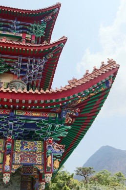 Temple roof detail, Po Lin Monastery