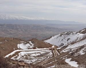 Snowy mountains Lebanon