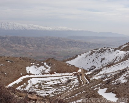 Snowy mountains Lebanon