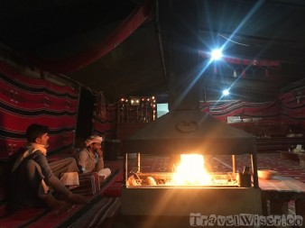 Around the fire in a bedouin tent, Wadi Rum