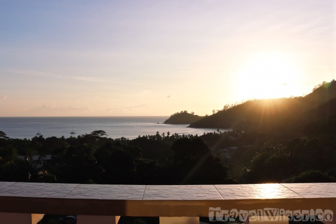 Mahe sunset view