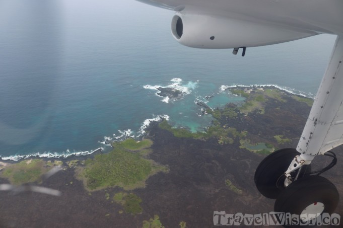 Flying over the Galapagos Islands