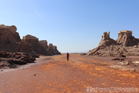 Exploring the salt mountains in the Danakil Depression