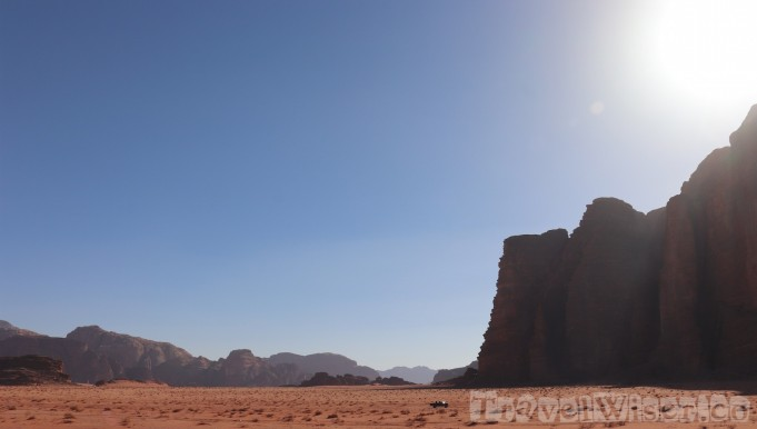 Driving in Wadi Rum