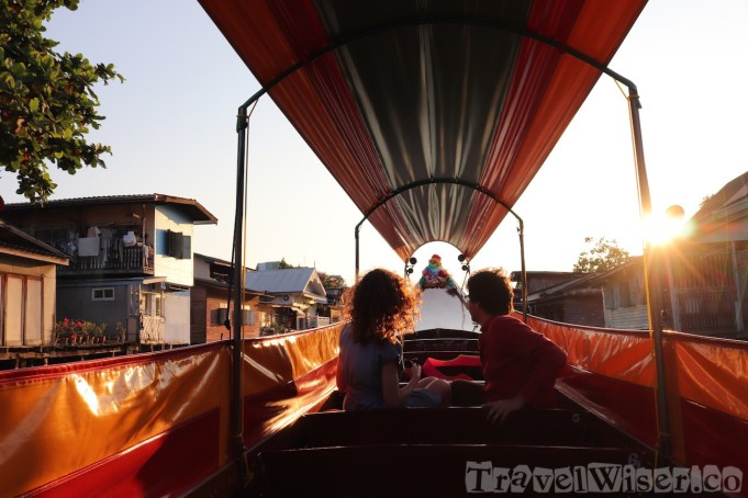 Thonburi canals sunset cruise
