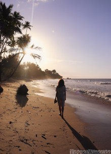 Sunset walk on Marianne beach Trinidad