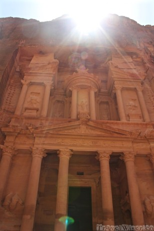 Sun illuminating the Treasury, Petra