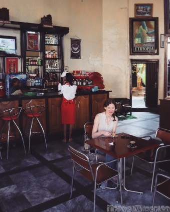 Coffee break at Cafe Ethiopia, Gondar