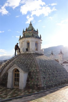 Quito church rooftop