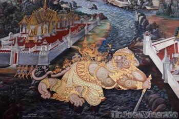 Ramakian mural detail, Wat Phra Kaew