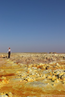 Protected against the sun in Dallol