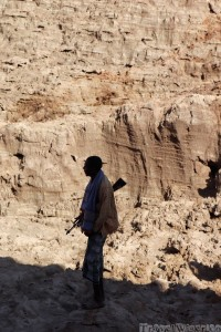 Armed Afar guide, Danakil Depression Ethiopia