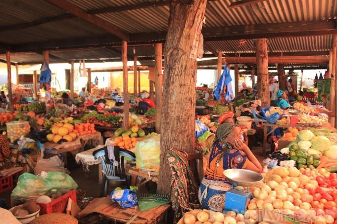 Colorful Inhambane market