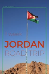 1 week Jordan road trip pin