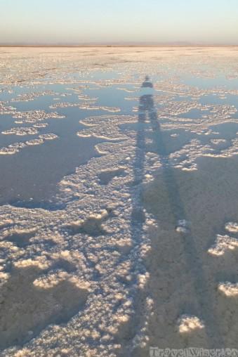 Shadow on Asale salt lake