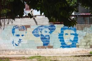 Propaganda mural in Vedado Havana