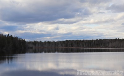 Shimmering lake, Maine