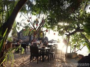 Les Rochers restaurant Praslin