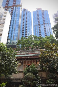 Tin Hau Temple park in Causeway Bay Hong Kong