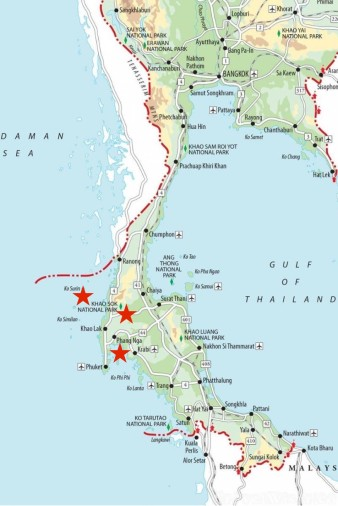 Travel Wiser Thailand travel itinerary map